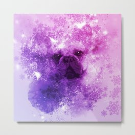 French Bulldog Christmas Holidays Metal Print