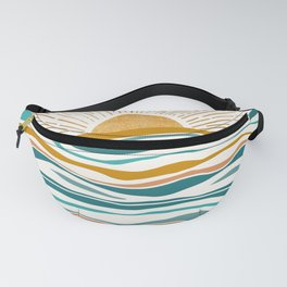 The Sun and The Sea - Gold and Teal Fanny Pack