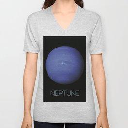 NASA-planet-asteroid poster-neptune Unisex V-Neck