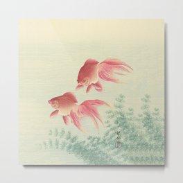 Goldfish Vintage Japanese Woodblock Print Metal Print