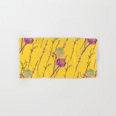 oriental flower stripe yellow Hand & Bath Towel