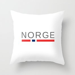 Norway Norge Throw Pillow
