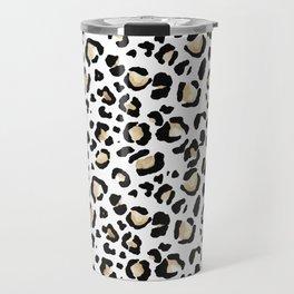 Leopard Animal Print Watercolour Painting Travel Mug