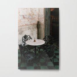 Tea Time in Izamal, Mexico Metal Print