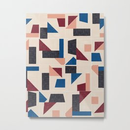 Tangram Wall Tiles 03 #society6 #pattern Metal Print