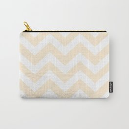 Papaya whip - pink color - Zigzag Chevron Pattern Carry-All Pouch