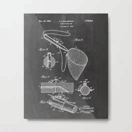 Fishing Patent Drawing Metal Print