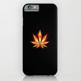 Cannabis Fire Leaf iPhone Case