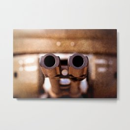 Double Barrel Military Aircraft Automatic Cannon Metal Print