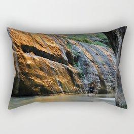 Virgin River Sunrise Zion National Park Rectangular Pillow