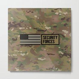 Security Forces (Camo) Metal Print