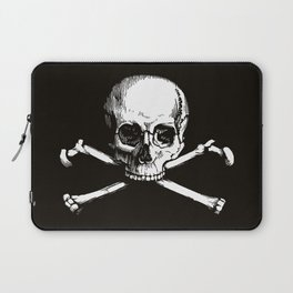 Skull and Crossbones | Jolly Roger | Pirate Flag | Black and White | Laptop Sleeve