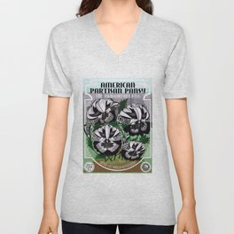 The Partisan Pansy Seed Packet Unisex V-Neck