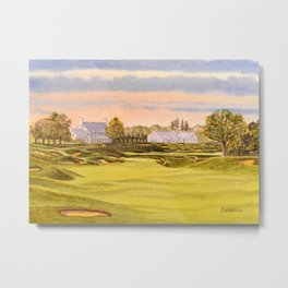 Whistling Straits Golf Course 9th And 18th Metal Print