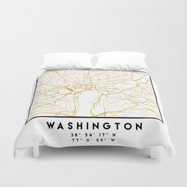 WASHINGTON D.C. DISTRICT OF COLUMBIA CITY STREET MAP ART Duvet Cover