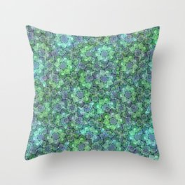 Lush Succulent Garden Throw Pillow