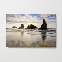 Wizards Hat Sunset / Bandon Beach Metal Print