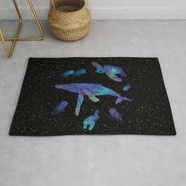 Space Sea Creatures Rug
