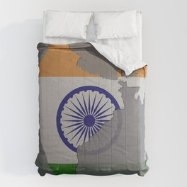 India, Outline, Map Comforters
