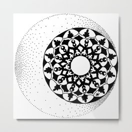 The Moon and Stars Metal Print