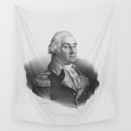 General George Washington Portrait - Nicolas Eustache Maurin 1830 Wall Tapestry