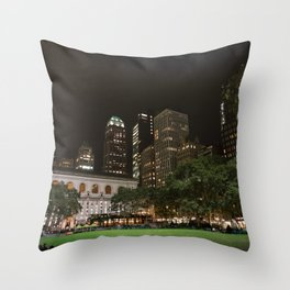 Bryant Park in New York Throw Pillow