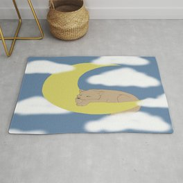 A Wolf Pup on the Moon Rug