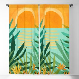 Peaceful Tropics / Sunset Landscape Blackout Curtain