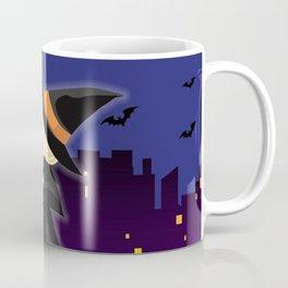 Cute Halloween Witch in New York City Coffee Mug