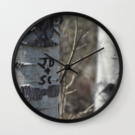JD + SC Wall Clock