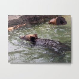 It Is A Hot Day Metal Print