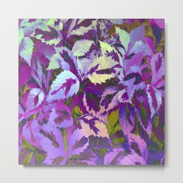 More Lovely Leaves, Purple Shades Metal Print