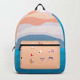 Beach Day | Aerial Illustration Backpack