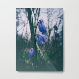 Fade Into The Blue Metal Print