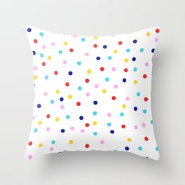 Colorful Dots Modern Throw Pillow