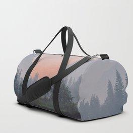 Yosemite Valley Sunrise Pretty Pink Duffle Bag
