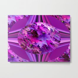 Sweetgum Radial Abstract Metal Print
