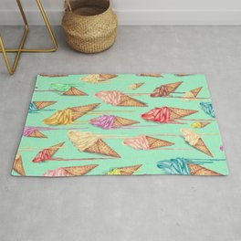 melted ice creams Rug
