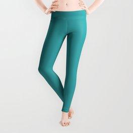 Aqua / Teal / Turquoise Solid Color Pairs with Sherwin Williams 2020 Trending Color Aquarium SW6767 Leggings