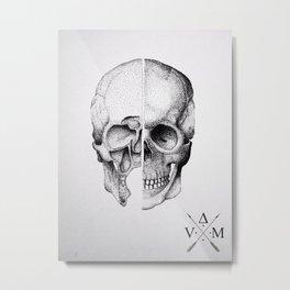 Davinci Skull Metal Print