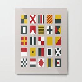 Nautical Flags Metal Print