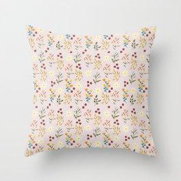 Summer Botanicals Throw Pillow