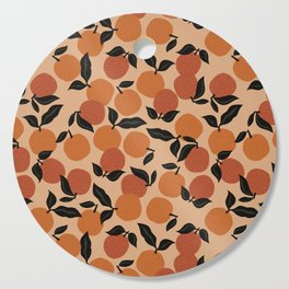 Seamless Citrus Pattern / Oranges Cutting Board