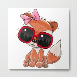 Cool Fox Metal Print