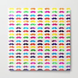 Moustaches Metal Print