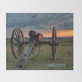 Gettysburg Cannon Sunset Throw Blanket
