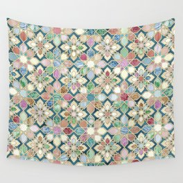 Muted Moroccan Mosaic Tiles Wall Tapestry
