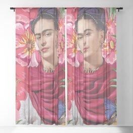 Forever Frida Kahlo Sheer Curtain