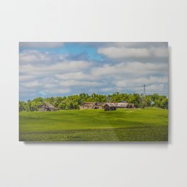 Jumbled Abandoned Farm, Burleigh County, North Dakota 2 Metal Print