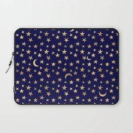 Navy & Gold Moon & Stars Laptop Sleeve